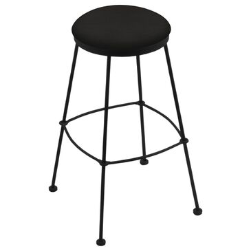 "Holland Bar Stool 3030 25"" Stationary Counter Stool with Black Wrinkle and Canter Espresso Seat, , large"