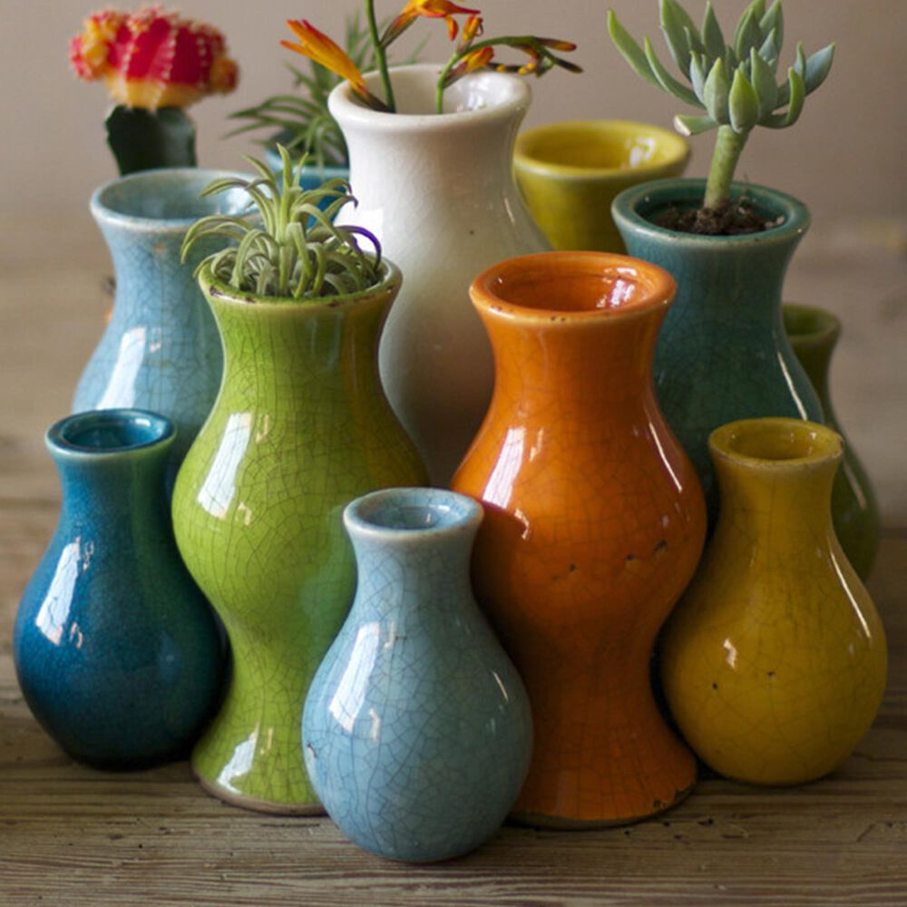 Kalalou Vases in Multicolor (Set of 13), , large