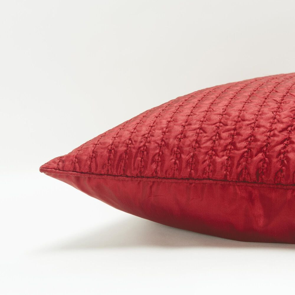 """Rizzy Home Solid 22"""" Down Filled Pillow in Cherry Red, , large"""