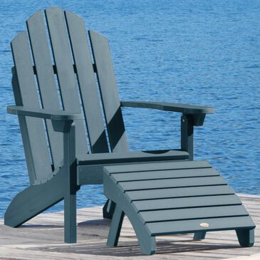 Highwood USA Classic Westport 2-Piece Adirondack Chair Set in Nantucket Blue, , large