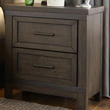 Belle Furnishings Thornwood Hills 2-Drawer Night Stand in Rock Beaten Gray, , large