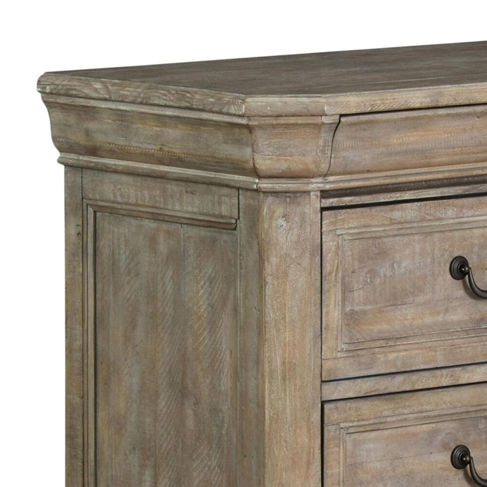 Nicolette Home Tinley Park 3 Drawer Nightstand in Dovetail Grey, , large