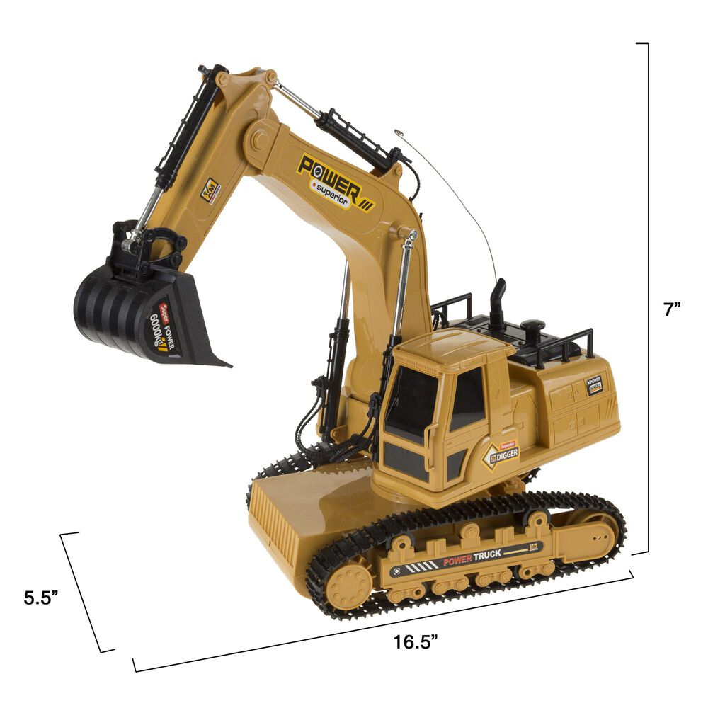 Timberlake Hey! Play! Remote Control Tractor Excavator Construction Toy, , large