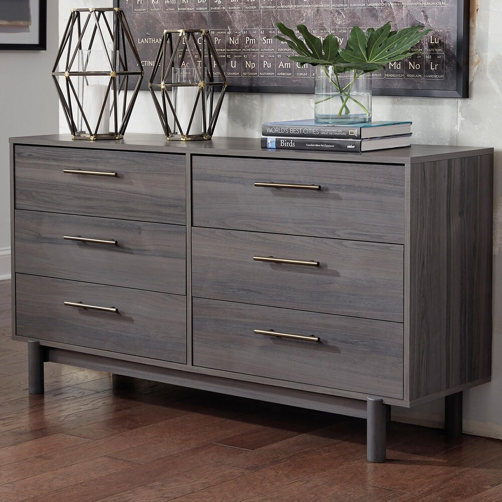 Signature Design by Ashley Brymont 6 Drawer Dresser in Warm Gray, , large