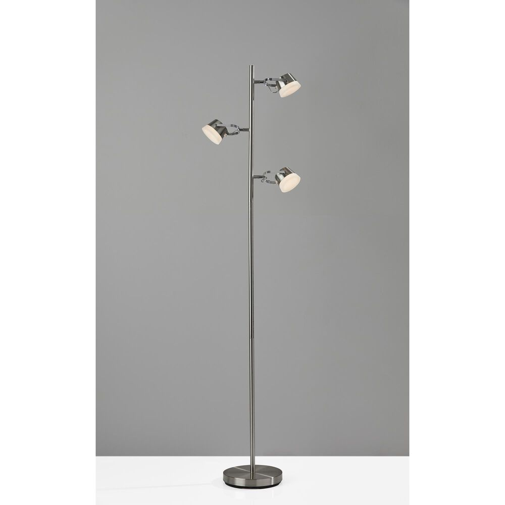 Adesso Nitro LED Tree Lamp in Brushed Steel, , large