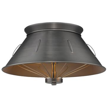 Golden Lighting Whitaker Flush Mount in Aged Steel, , large