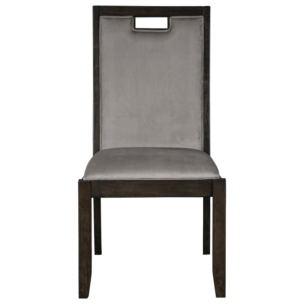 Signature Design by Ashley Hyndell Upholstered Side Chair in Dark Brown, , large