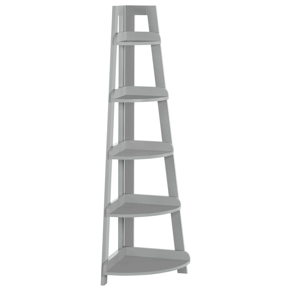 RiverRidge Home 5-Tier Corner Ladder Shelf in Gray, , large