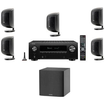 Bowers and Wilkins M-1 Loudspeaker and 7.2 Channel Network A/V Receiver with HEOS Home Theater System in Black, , large