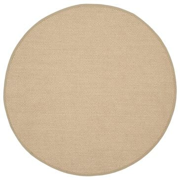 Safavieh Natural Fiber NF141B 10' Round Maize and Linen Area Rug, , large