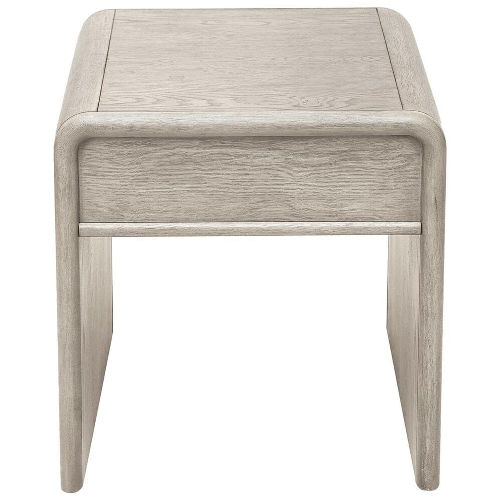 Accentric Approach Urban Eclectic End Table in Grey Oak and Shagreen, , large