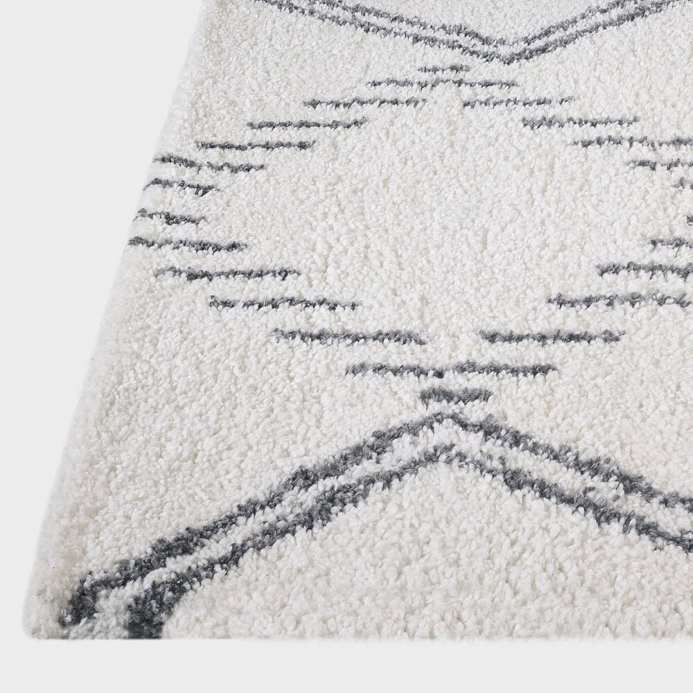 "Central Oriental Prince Light Analia 8653.247 6'7"" x 9'2"" Anthracite and Cream Area Rug, , large"