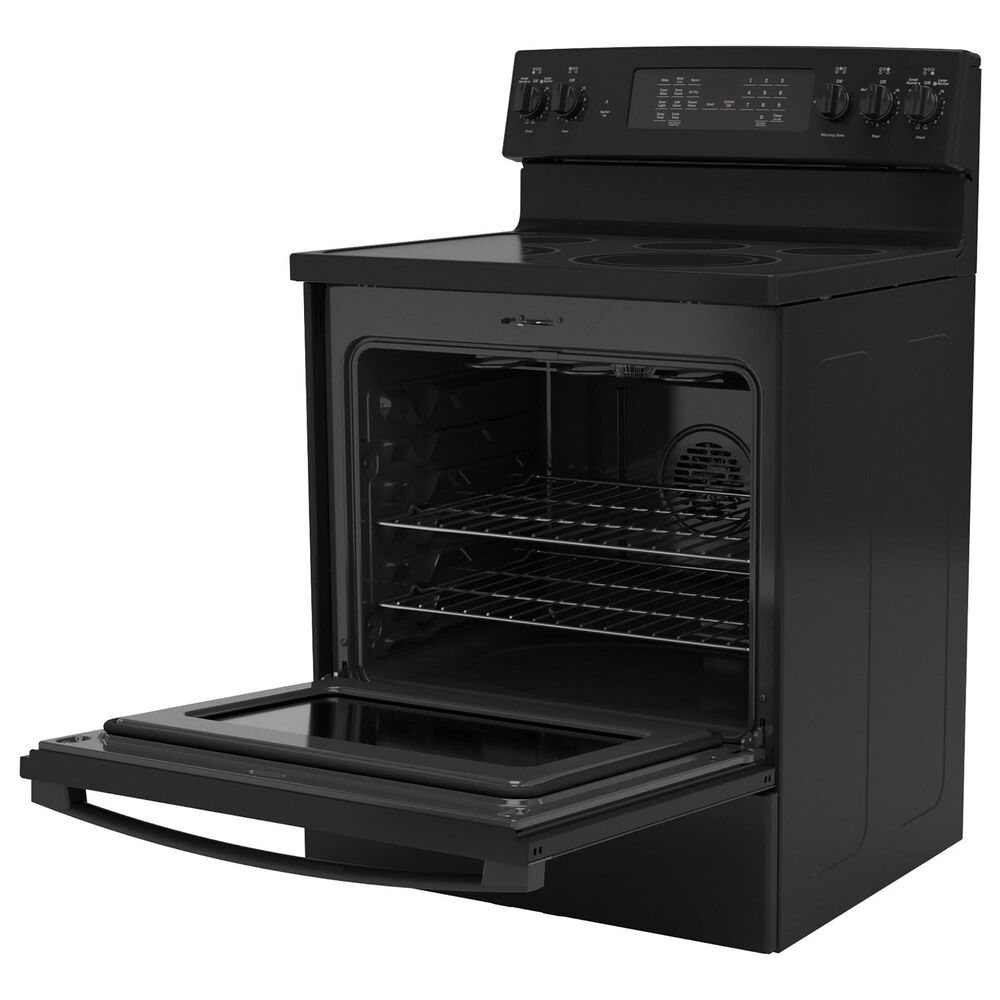 GE Appliances 2-Piece Kitchen Package with 30'' Electric Range and 1.9 Cu. Ft. Microwave Oven in Black, , large