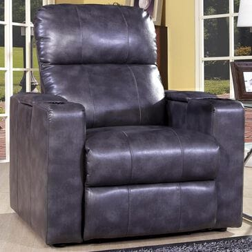 Prime Resources International Larson Home Theater Power Recliner in Blanche Charcoal, , large
