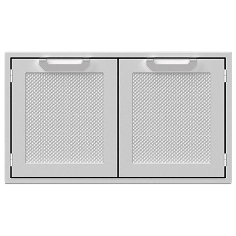 "Hestan 36"" Double Sealed Pantry Storage Doors in Stainless Steel, , large"