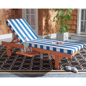 Safavieh Newport Lounge Chair in Natural/Blue Stripe, , large