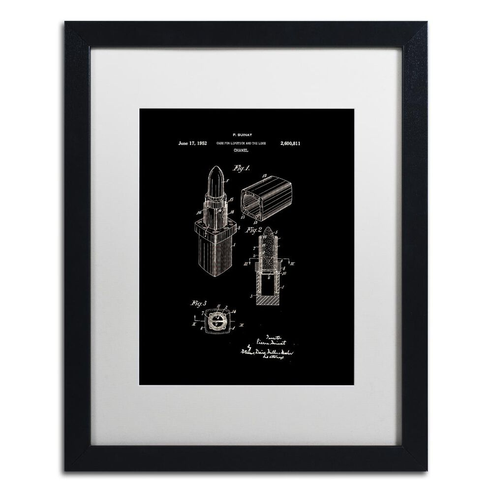 Timberlake Claire Doherty 'Chanel Lipstick Case Patent White' Matted Black  Framed Art 16x20, , large