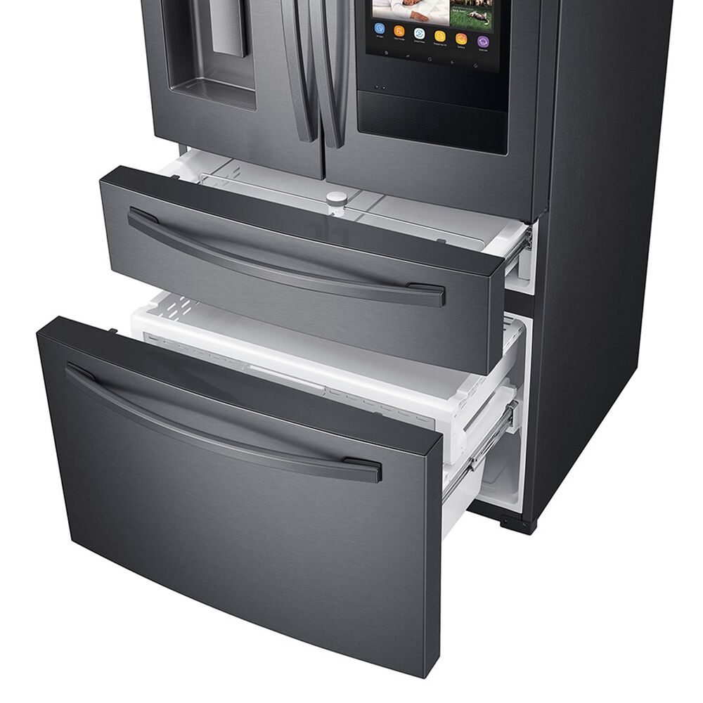 Samsung 2-Piece Kitchen Package with 28 Cu. Ft. French Door Refrigerator with StormWash 48 dBA Dishwasher in Black Stainless Steel, , large