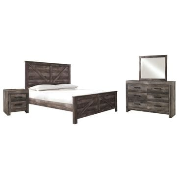 Signature Design by Ashley Wynnlow 4-Piece King Bedroom Set in Rustic Gray, , large