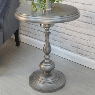 Carolina Cottage Pearson Accent Table in Antique Nickle, , large