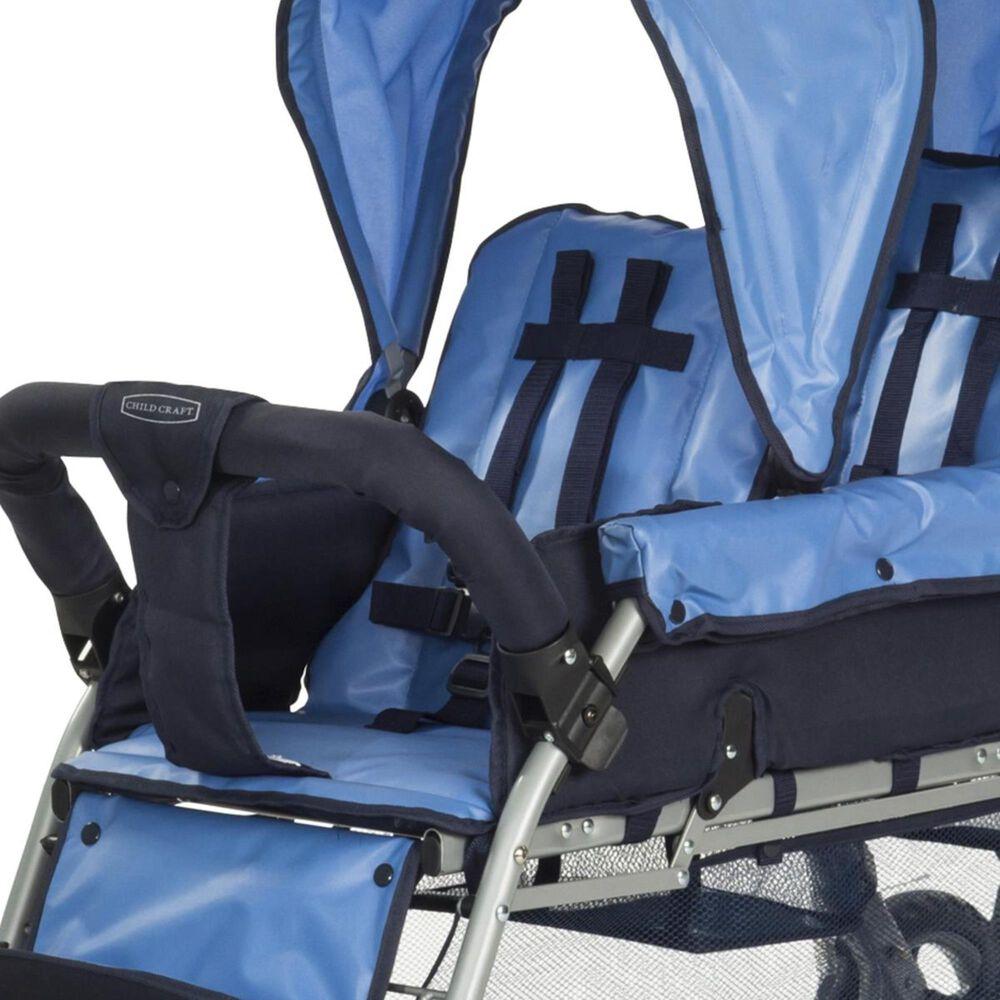 Child Craft Triple 3 Passenger Stroller in Blue, , large