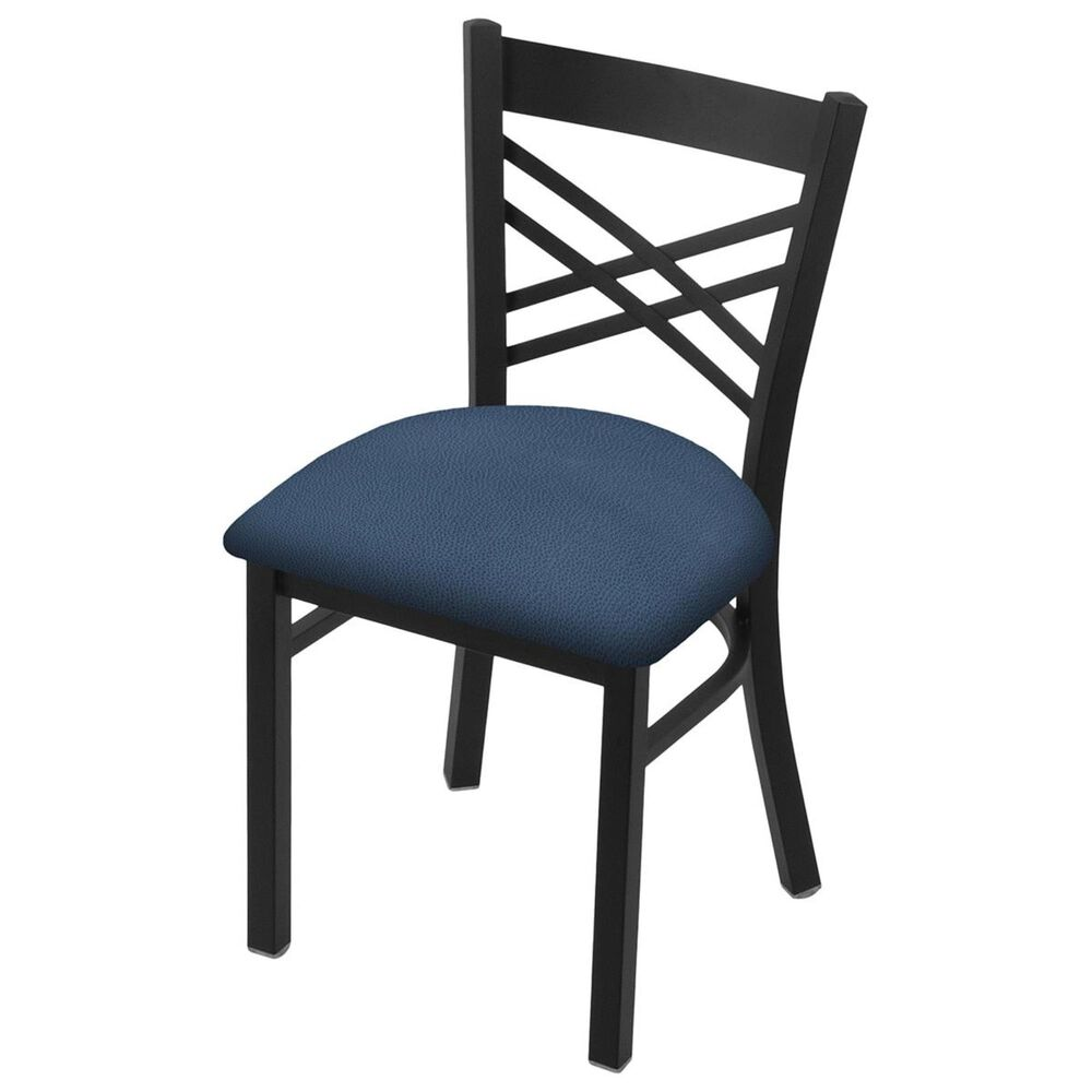 """Holland Bar Stool 620 Catalina 18"""" Chair with Black Wrinkle and Rein Bay Seat, , large"""
