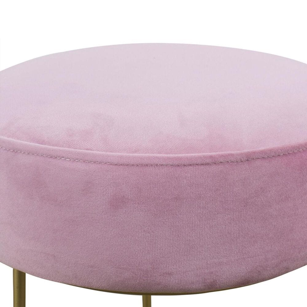 Tov Furniture Nina Velvet Stool in Blush, , large
