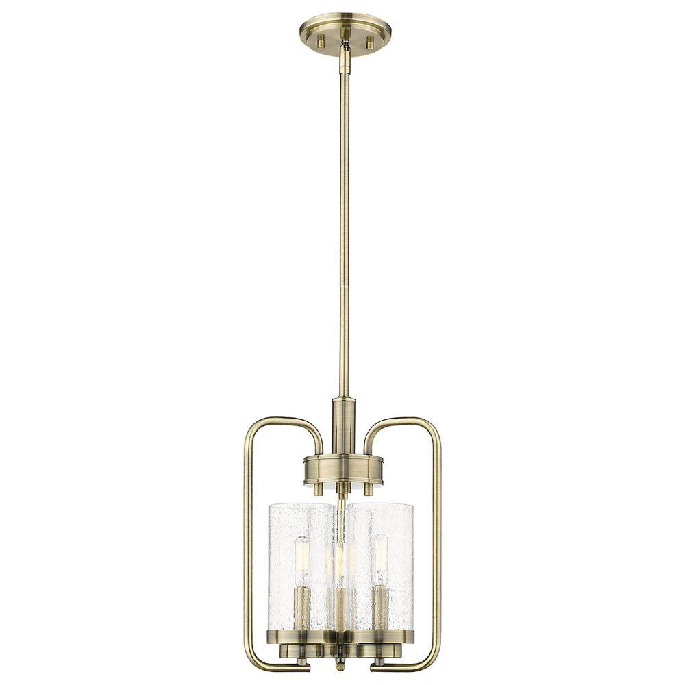 Golden Lighting Holden 3-Light Pendant in Aged Brass, , large
