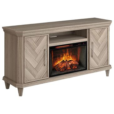 Greentouch USA Ridgeway TV Console with Fireplace in Harbor Gray, , large