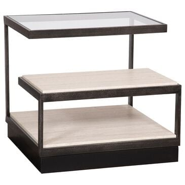Vanguard Furniture Delmont Side Table in Black and White, , large