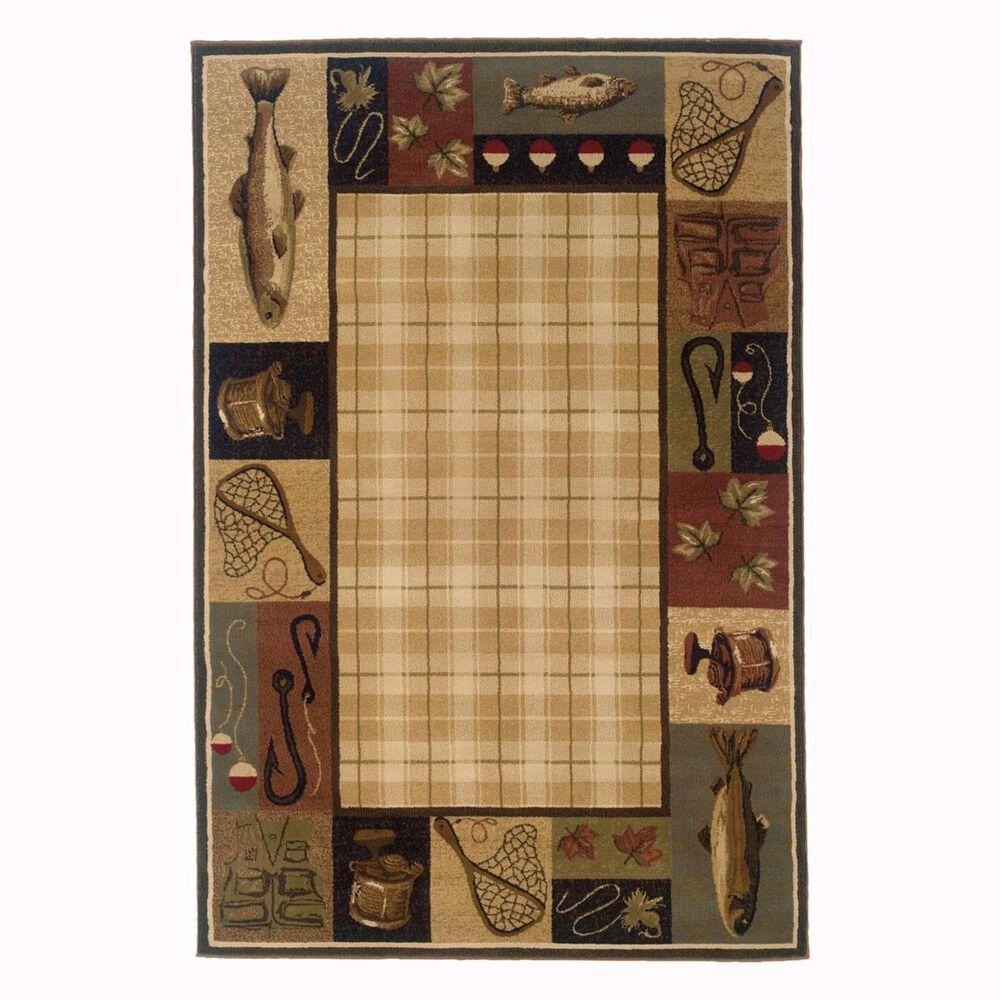 "Oriental Weavers Hudson 1065B 1'10"" x 3'3"" Beige Scatter Rug, , large"