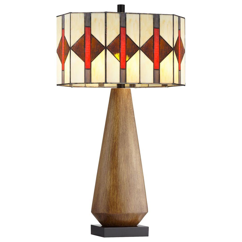 Pacific Coast Lighting Haywood Table Lamp in Brown Wood Tone, , large