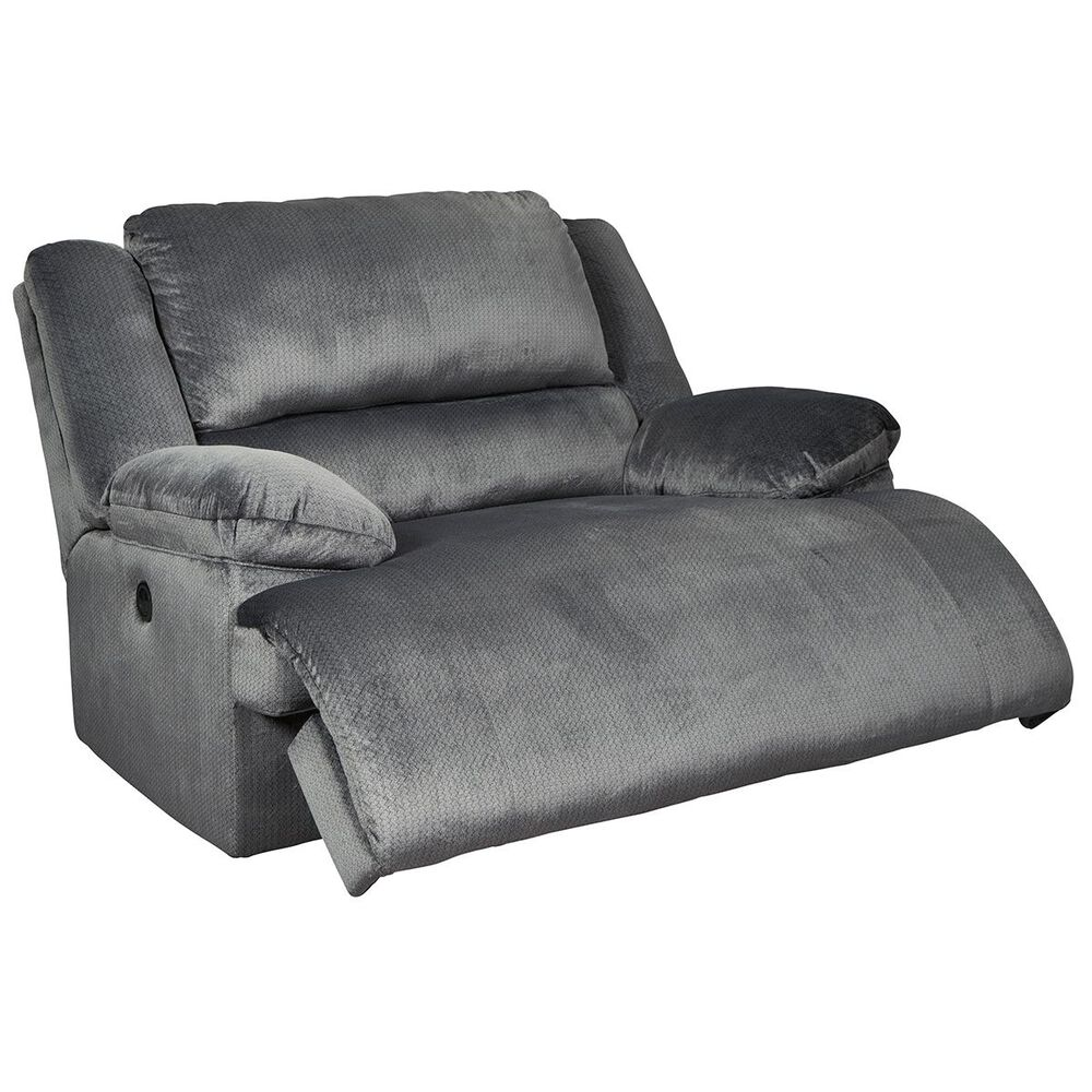 Signature Design by Ashley Clonmel Wall Wide Seat Recliner in Charcoal, , large