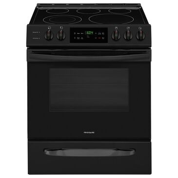 Frigidaire 30'' Front Control Freestanding Electric Range in Black, , large