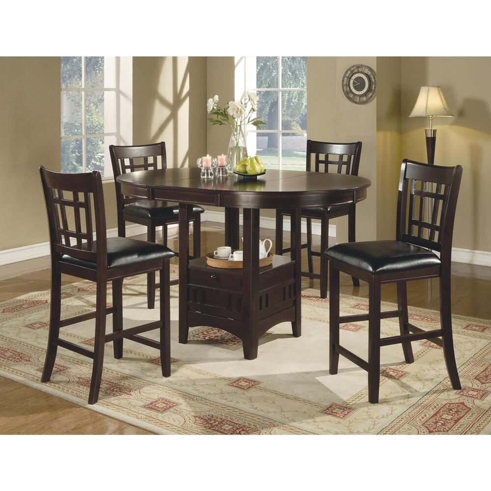 Pacific Landing Lavon Counter Height Stool in Cappuccino - Set of 2, , large