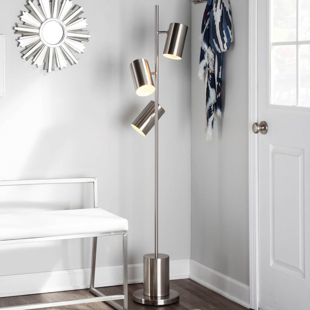 Lumisource Cannes Floor Lamp in Stainless Steel, , large