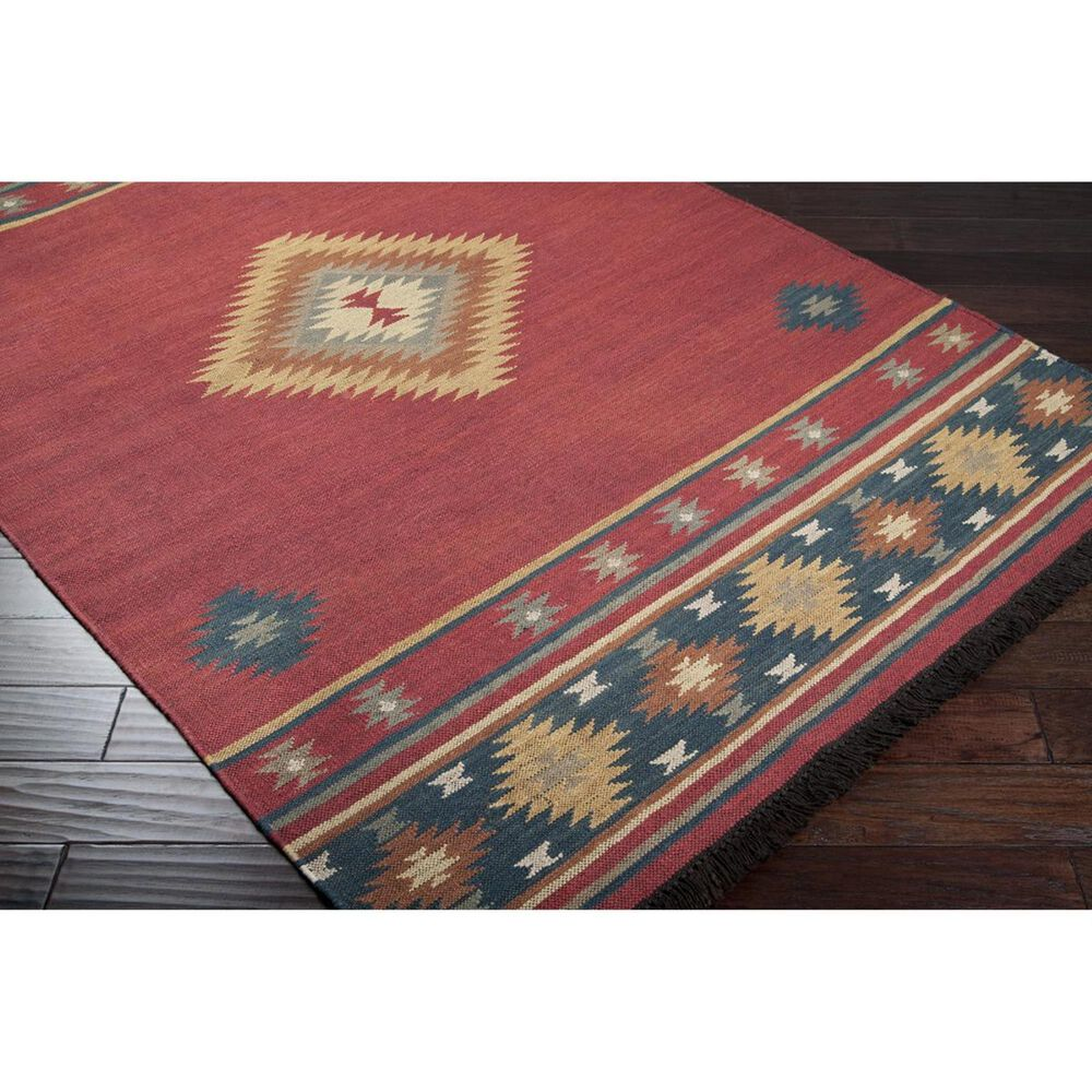 Surya Jewel Tone JT-1033 8' x 11' Red, Navy, Camel and Rust Area Rug, , large