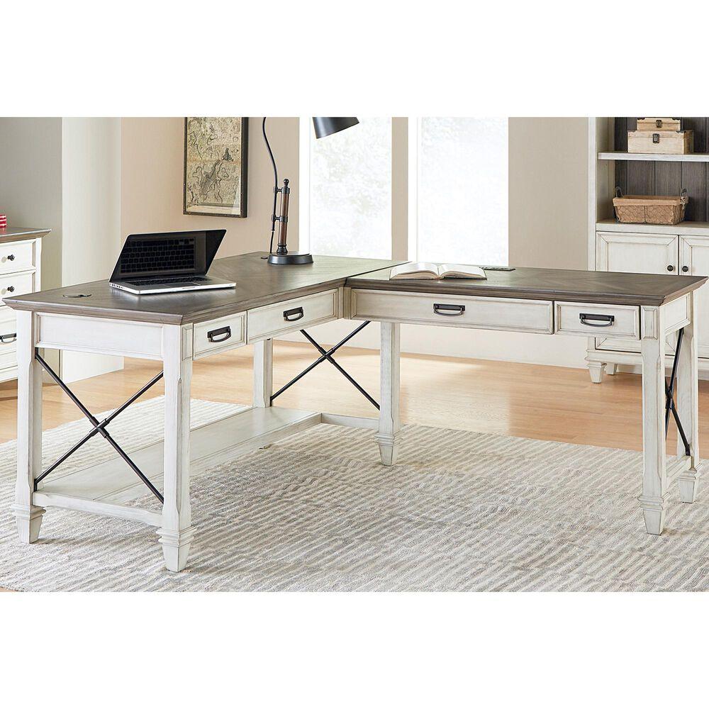 Wycliff Bay Hartford Desk with Return in Eggshell, , large