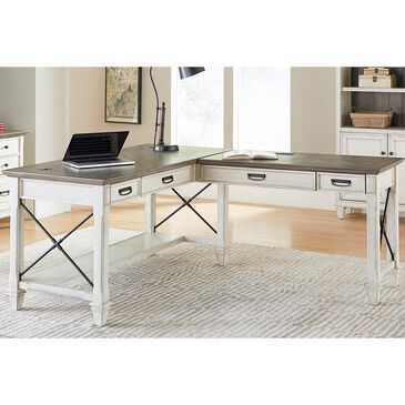 Wycliff Bay Hartford Desk with Return in Eggshell, , large