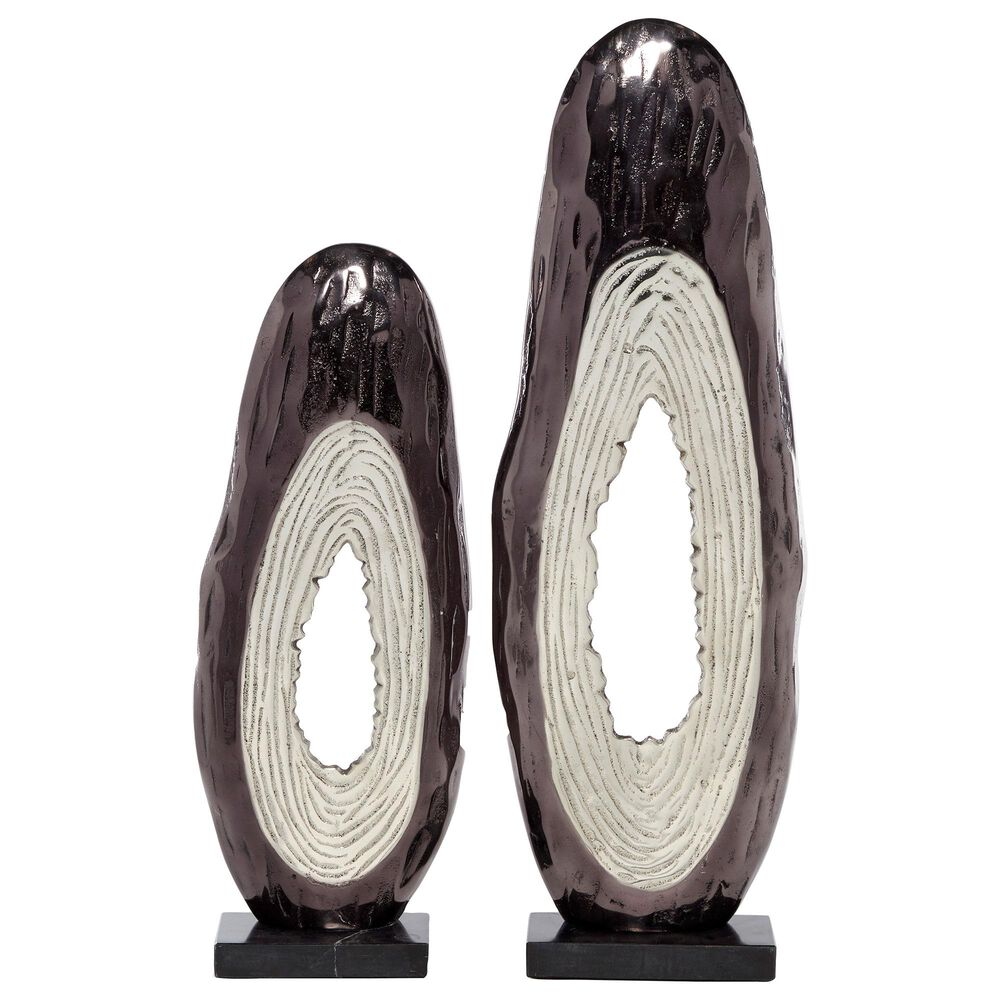 Venus Williams Collection Modern Metal Sculpture in Black (Set of 2), , large