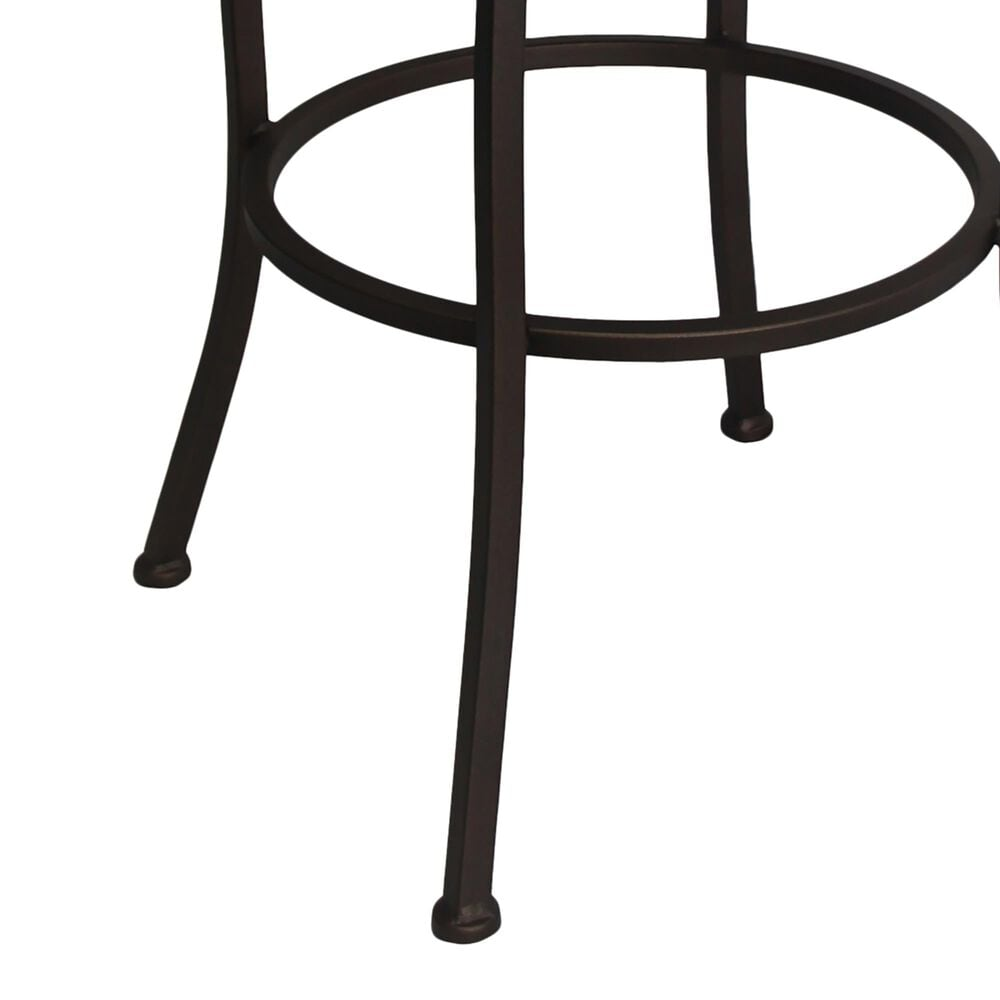 "Delaware Dining Fairview 26"" Patio Swivel Barstool with Dupione Oak Seat in Sun Bronze, , large"