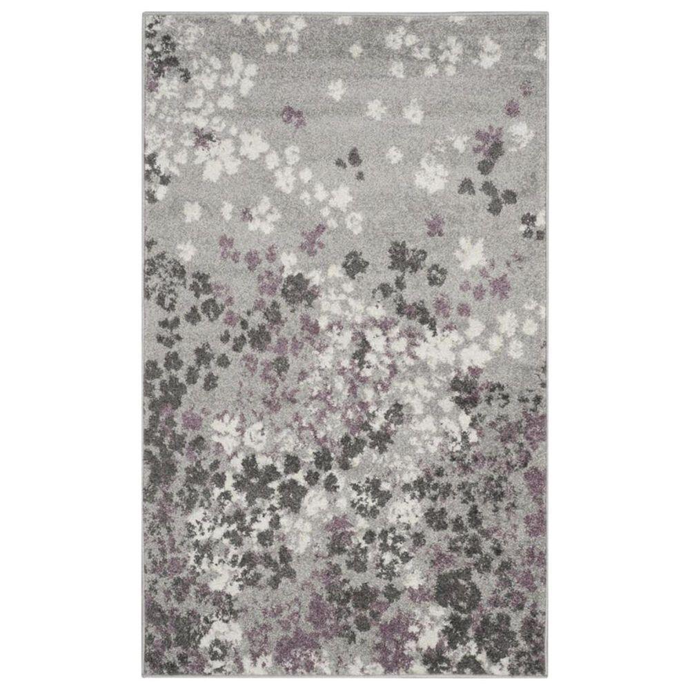 Safavieh Adirondack ADR115M 3' x 5' Light Grey and Purple Area Rug, , large