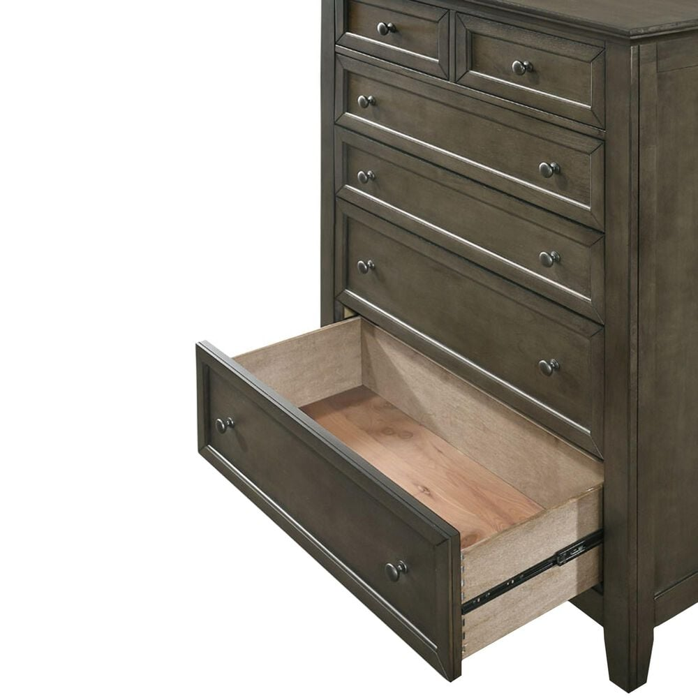 Hawthorne Furniture San Mateo 5 Drawer Chest in Gray, , large