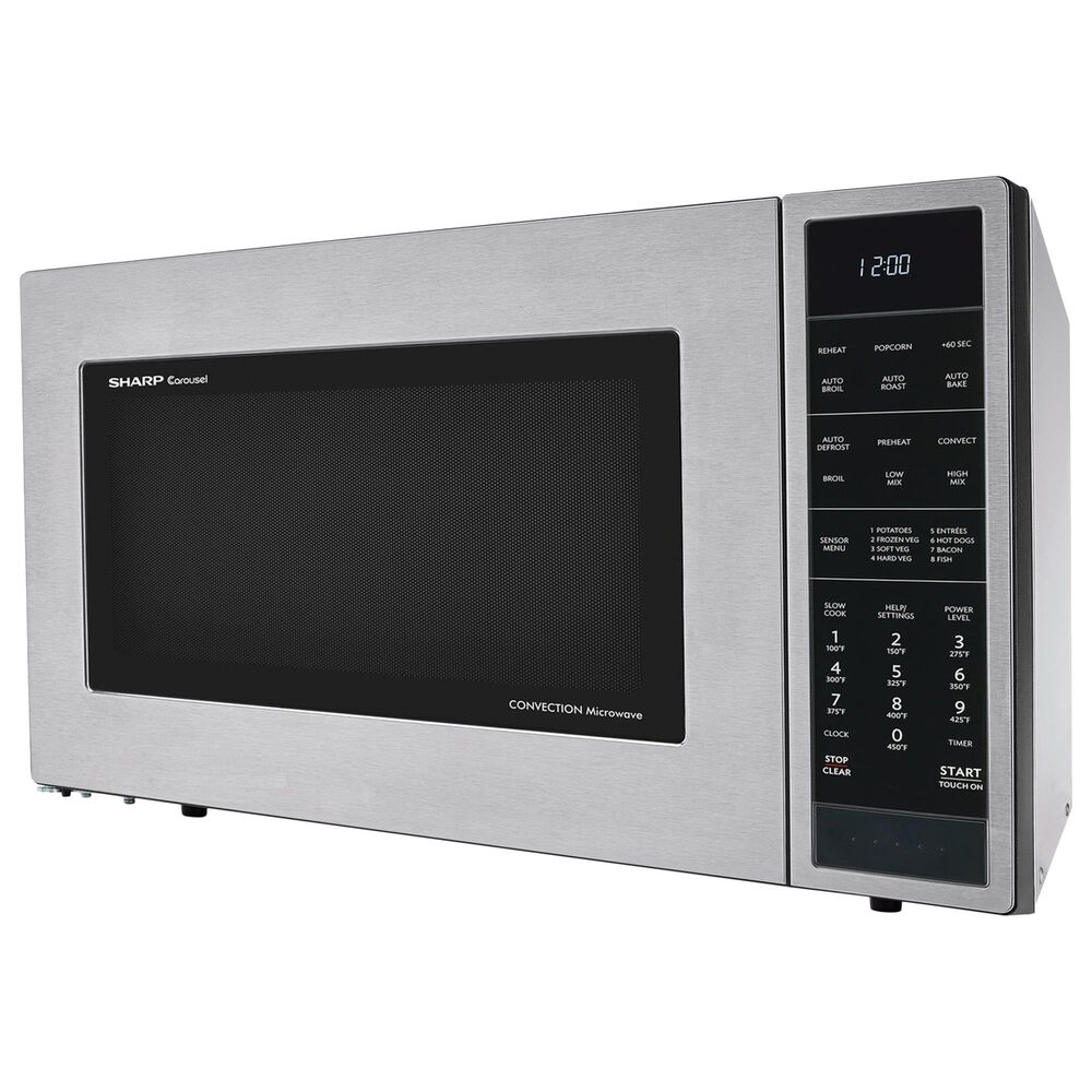 Sharp 1.5 Cu. Ft. Convection Microwave Oven in Stainless Steel, , large