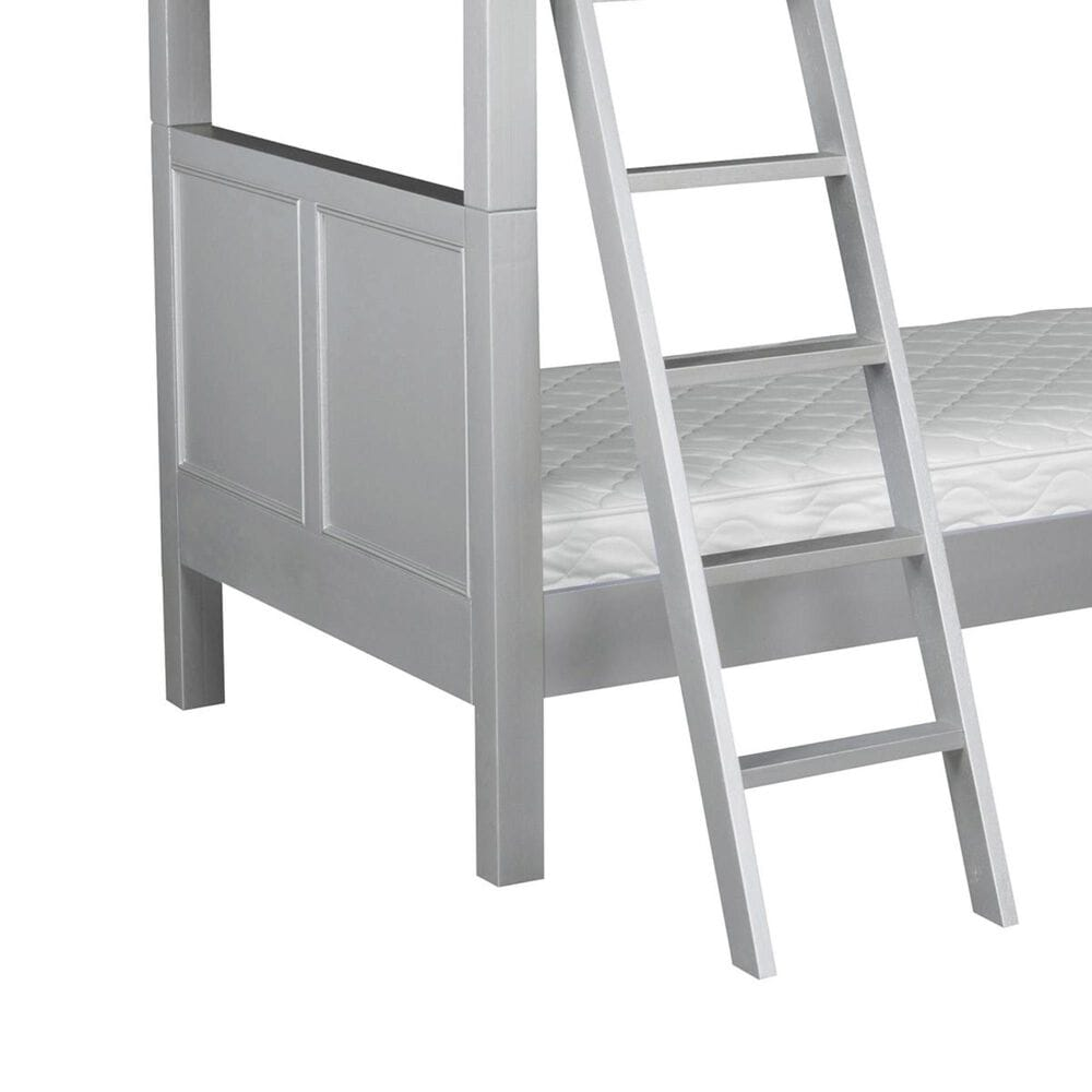 Homestyles Venice Twin over Twin Bunk Bed in Silver/Grey, , large