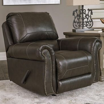 Signature Design by Ashley Lawthorn Rocker Recliner in Slate, , large
