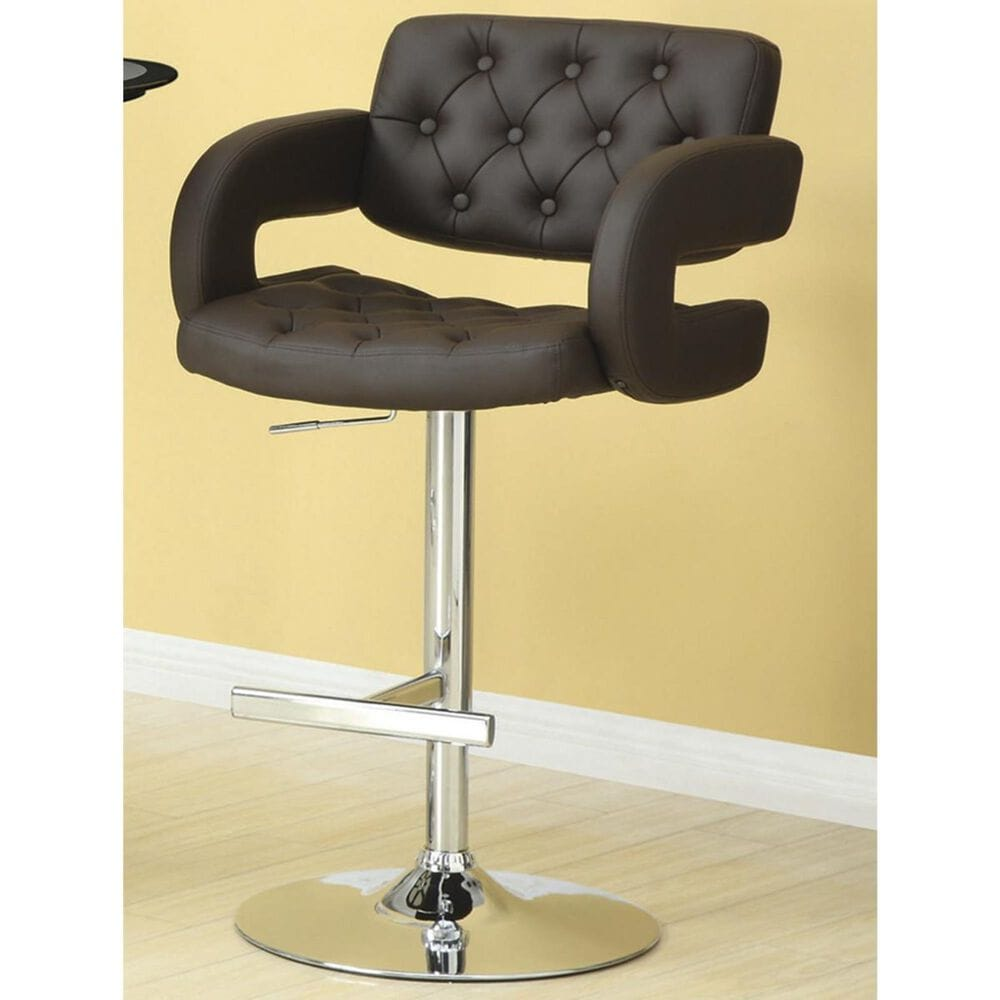 """Pacific Landing 29"""" Bar Stool with Arms in Chrome and Brown, , large"""