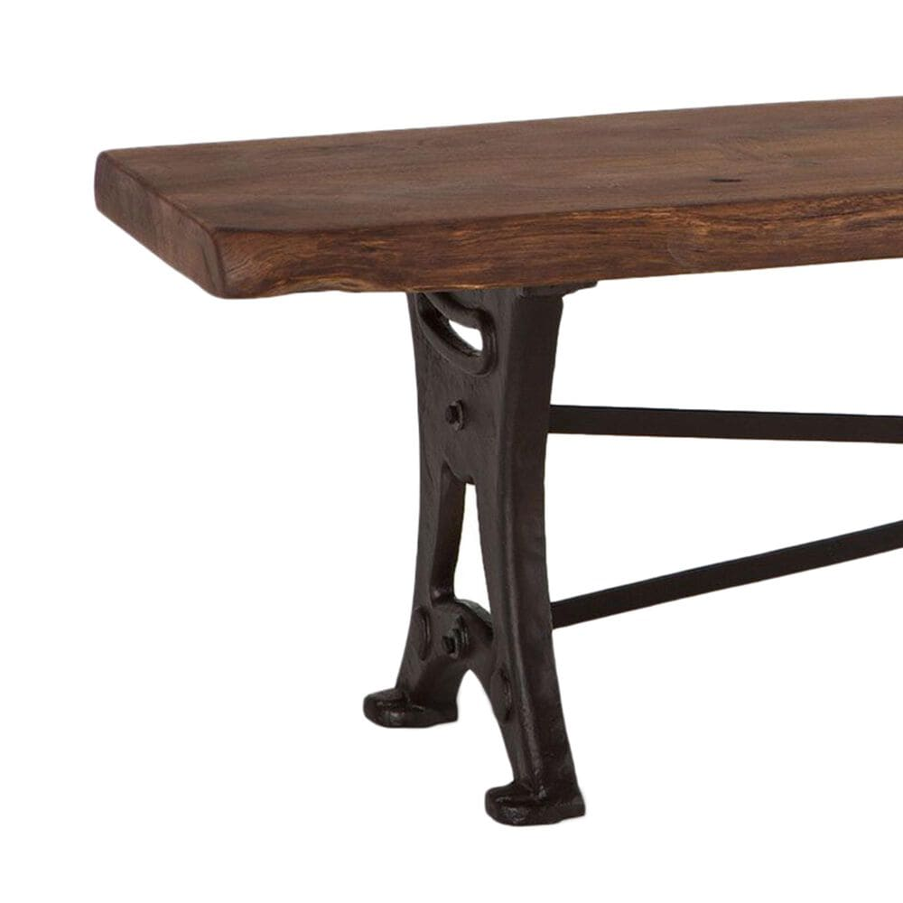 """Home Trends & Design Organic Forge 70"""" Bench in Raw Walnut and Antique Zinc, , large"""