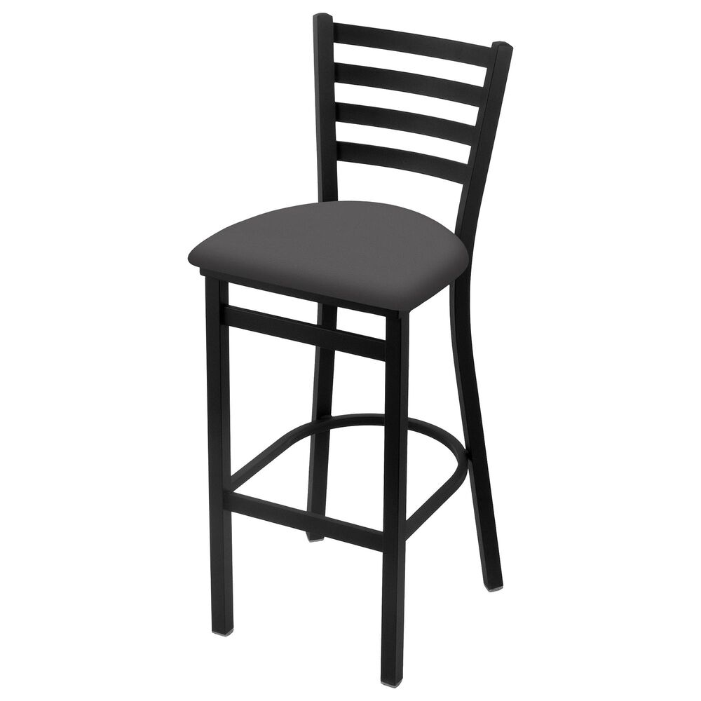 """Holland Bar Stool 400 25"""" Stationary Counter Stool with Black Wrinkle and Canter Storm Seat, , large"""
