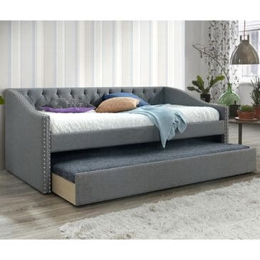Claremont Loretta Daybed with Trundle in Gray, , large
